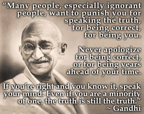 gandhi speak truth ox